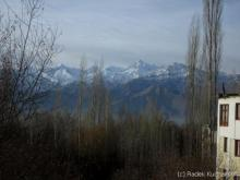Stok Kangri seen from Leh on a January morning